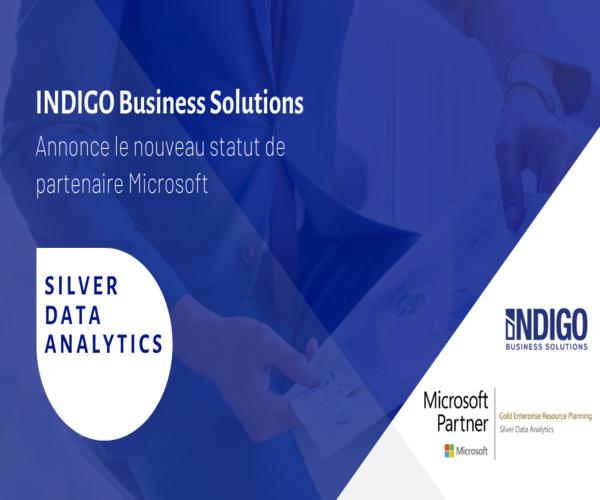 INDIGO Business Solutions annonce le nouveau statut de partenaire Microsoft : Silver Data Analytics